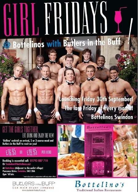 Bottelinos featuring Butlers in the Buff Swindon