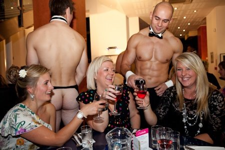 Butlers in the Buff at Bottelinos Swindon