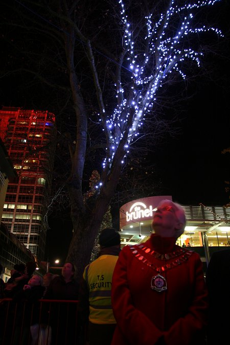 Christmas Lights in Swindon Town Centre