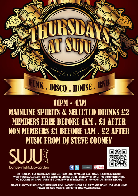 Thursdays at Suju, Swindon