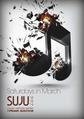 Saturdays in March at Suju Swindon