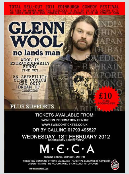 Glenn Wool Comedy Night at MECA Swindon 2012