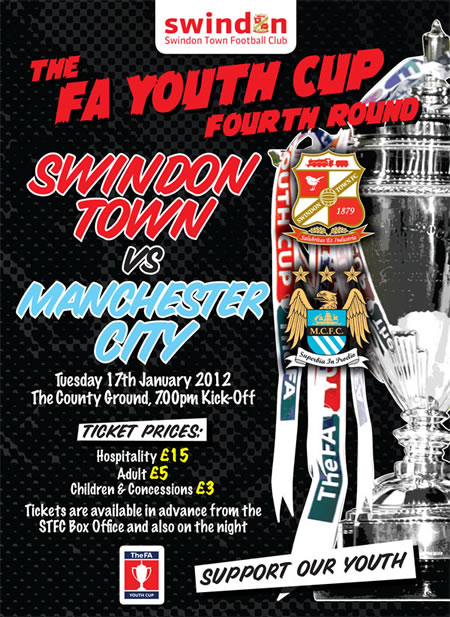 Swindon Town FC Youth vs Manchester City 2012