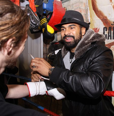 David Haye former World Champion Heavyweight Champion in Swindon - 28 January 2012