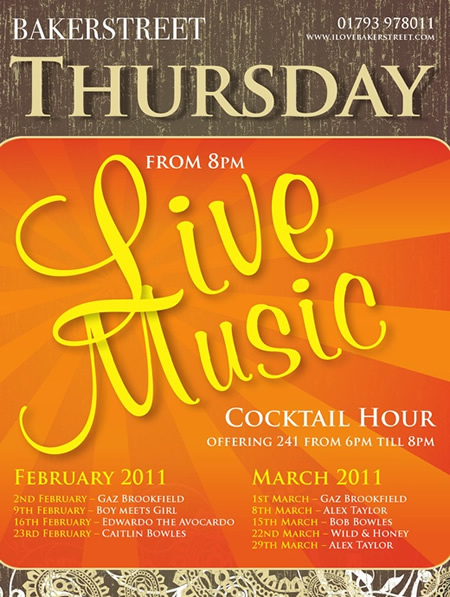 Live Music at Baker Street Swindon