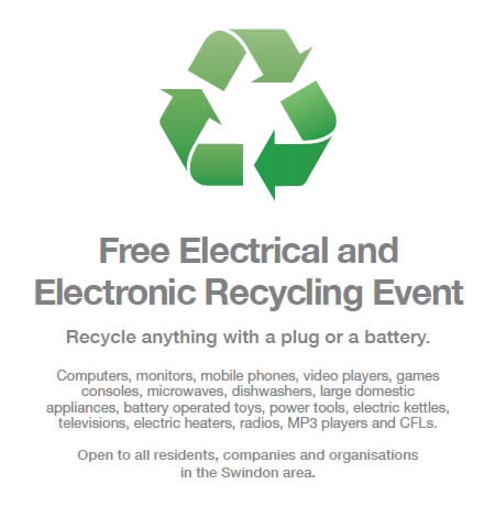 Free electronics recycling event in Swindon