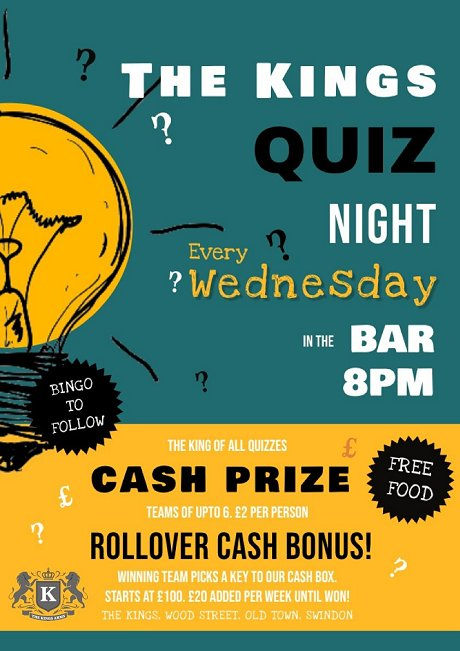 The Kings Quiz, Old Town, Swindon