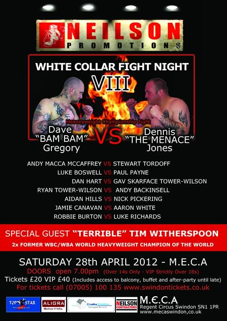 White Collar Boxing at MECA Swindon