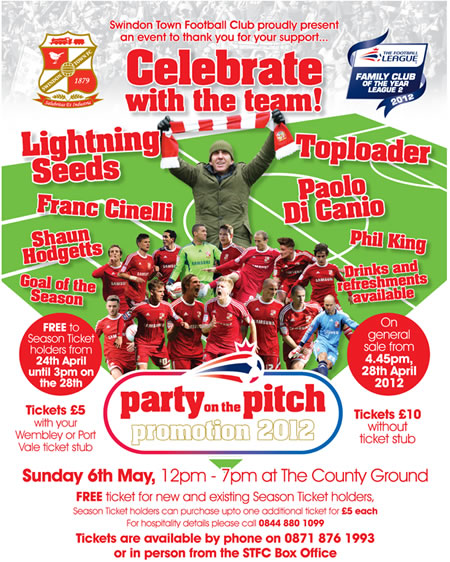 Party On The Pitch Swindon Town FC