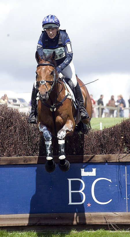 Zara Phillips at Barbury Horse Trials 2012