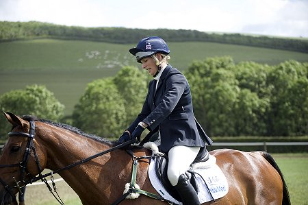 Zara Phillips competing in the Barbury Horse Trials near Swindon