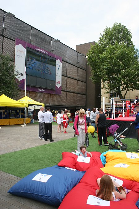 Olympics showcase in Swindon town centre
