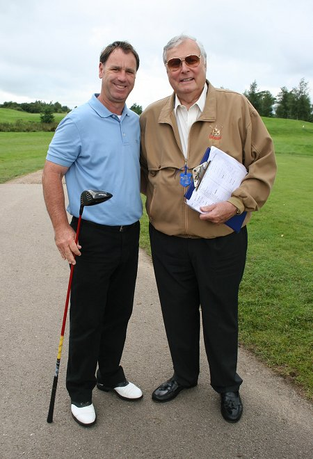 Paul Way with Peter Alliss at The Wiltshire Golf Club