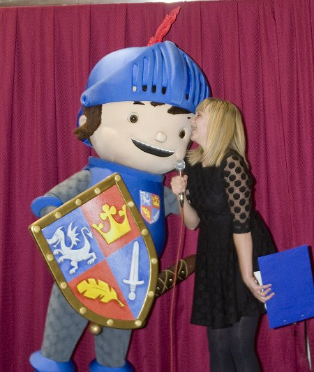 Mike The Knight switches on the Brunel Christmas lights