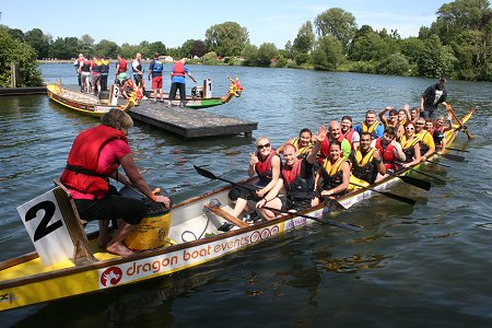 Dragon Boat Racing at Coate Water, Swindon