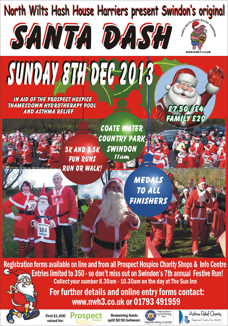 Santa Dash Swindon 2013 Charity Christmas