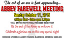 Abbey Farewell Meeting