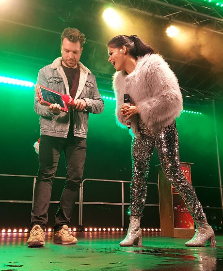 Saara Aalto at the Swindon town centre lights