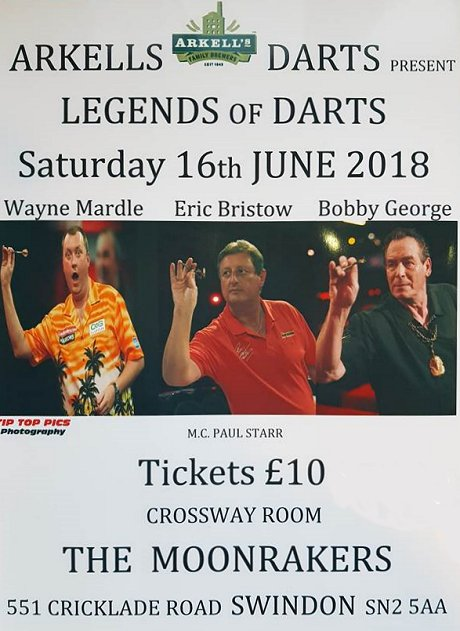 Legends of Darts at The Moonrakers, Swindon