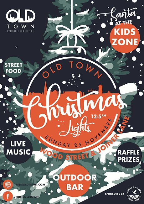 Old Town Swindon Christmas Lights 2018