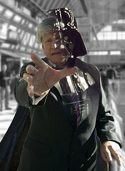 David Prowse as Darth VAder in Swindon