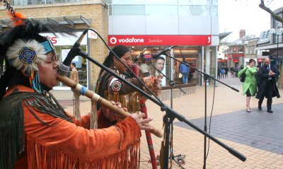 Indian music in Swindon town centre