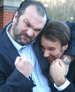 Razor Ruddock and Paul Merson