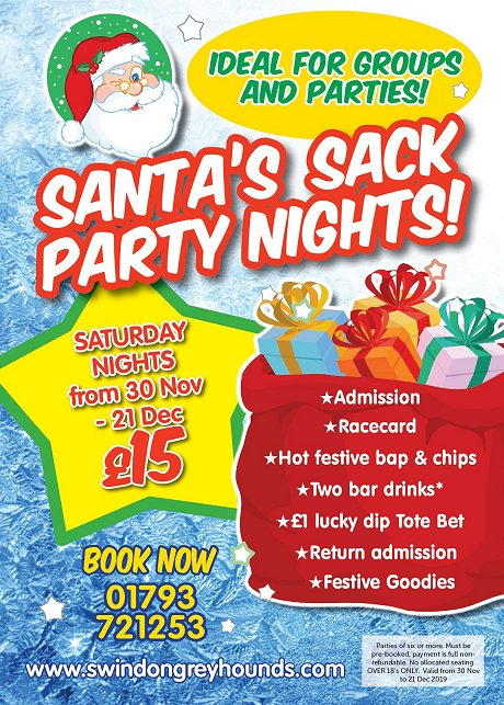 Christmas party at Swindon Greyhounds