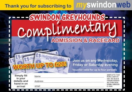 Swindon Greyhounds Voucher