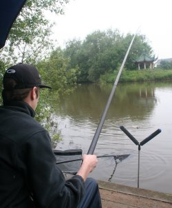 Angling at Peatmoor lake in Swindon
