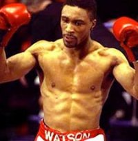 Boxing legend Michael Watson in Swindon