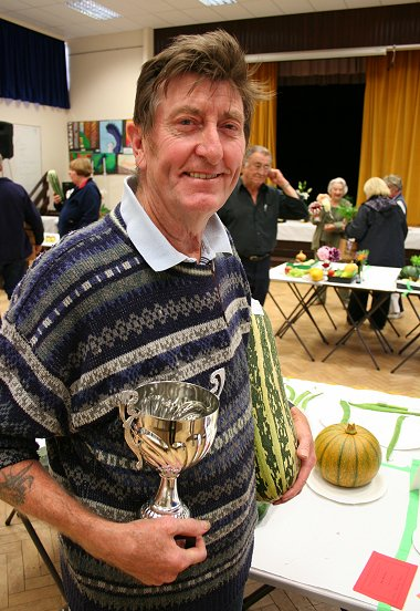 Highworth Produce and Craft Show 2008 overall winner Ashley New
