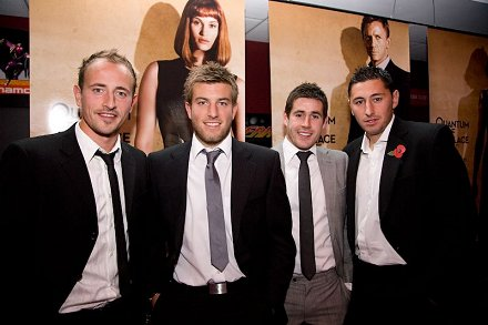 Swindon footballers at the James Bond Premier Swindon