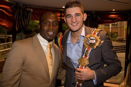 Nigel Benn and Nathan Cleverly in Swindon