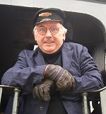 Pete Waterman at the Steam Museum in Swindon