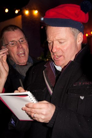 Rory Bremner switches on the Highworth Christmas Lights 27 November 2009