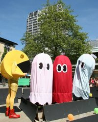 Pac-Man in Swindon, Wharf Green, Swindon town centre
