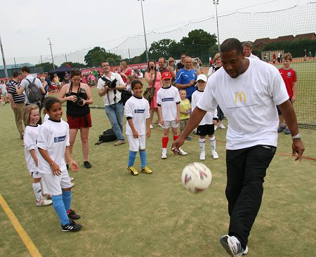 John Barnes at the Swindon Football Festival