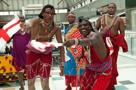 Maasai Tribe at the Brunel Shopping Centre