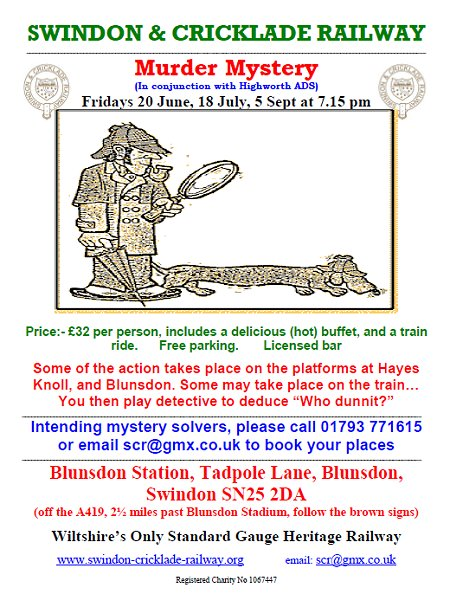 Murder Mystery at Swindon & Cricklade Railway