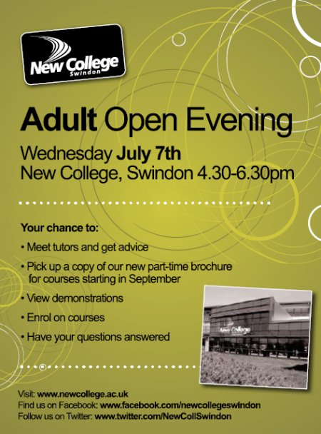 New College Adult Learning Open Evening 2010