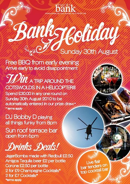 Bank Holiday Sunday at The Old Bank