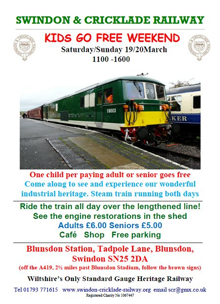 Kids go free weekend at Swindon & Cricklade Railway
