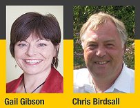 Gail Gibson, Chris Birdsall