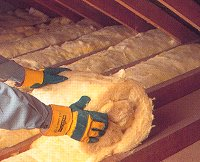Blanket roof insulation