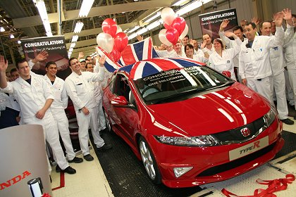 Swindon Honda one millionth Civic