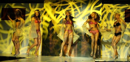 Valisere models performing at Mercedes Benz of Swindon