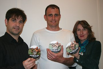 War Without Guns director, Will Watson with Franky Marulanda and Rhona Jack