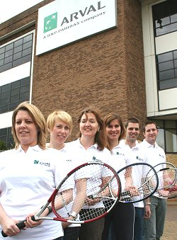 Arval tennis team in Swindon
