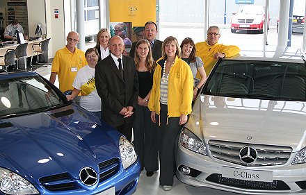 Mercedez-Benz join forces with Prospect Hospice Swindon